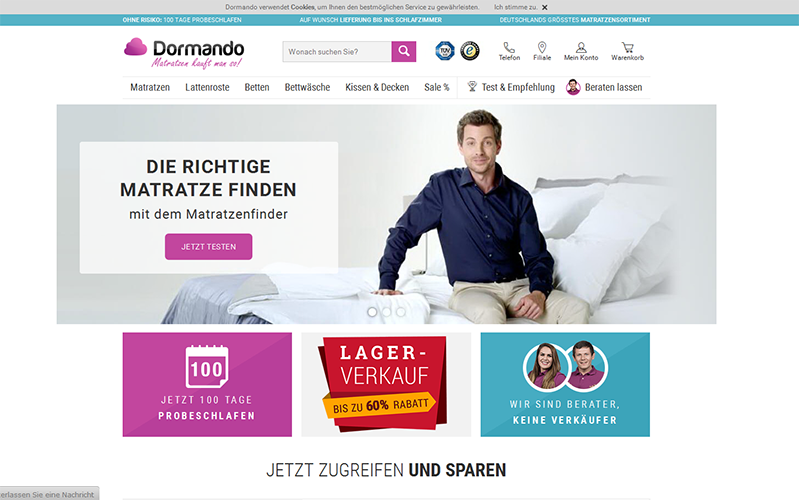 dormando der online shop f r das schlafzimmer sponsored. Black Bedroom Furniture Sets. Home Design Ideas