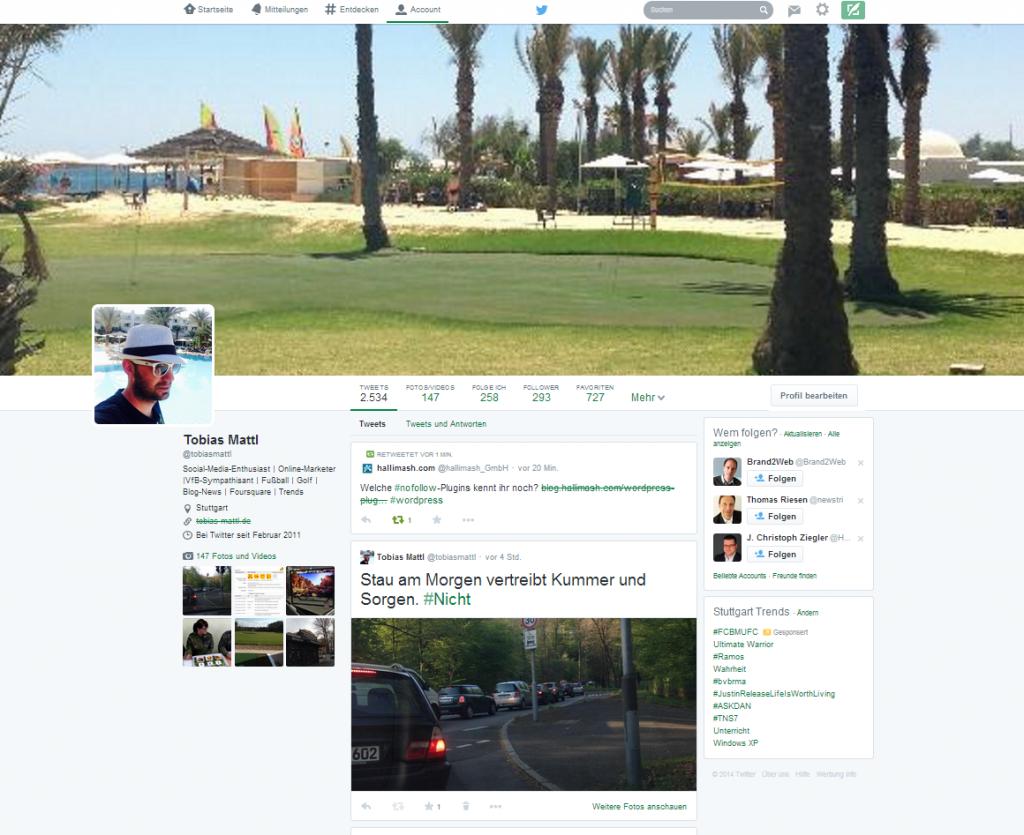 Das neue Twitter_Profil