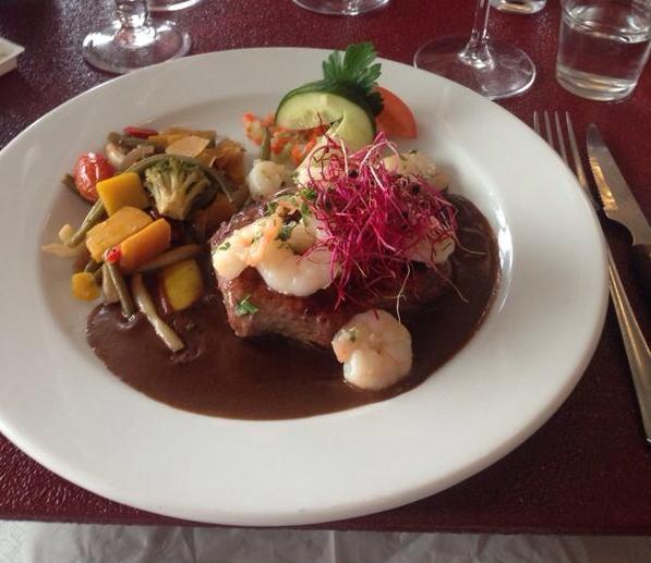 Surf´n´turf im Restaurant Luna in Lemvig